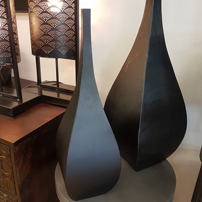 Baali Metal Vase - Matt Black