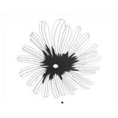 Babel Flower - Matt Black - Large