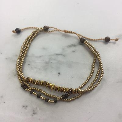 Baby Crystal Stack Bracelet - Gold