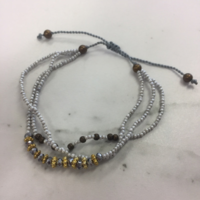 Baby Crystal Stack Bracelet - Silver