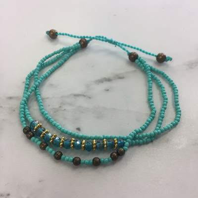 Baby Crystal Stack Bracelet - Turquoise