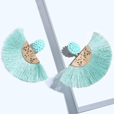 Bachata Tassel Earrings - Turquoise