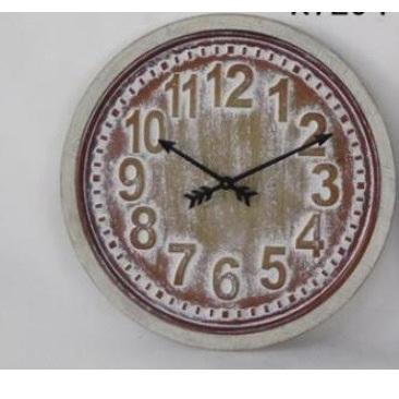 Badan Wall Clock - White Wash 62cmd