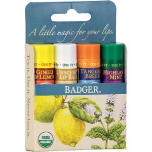 Badger Classic Lip 4 Pack (Blue Box)
