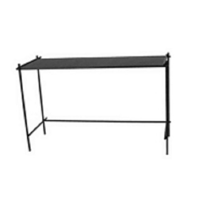 Bahir Console Table - Black Glass Top