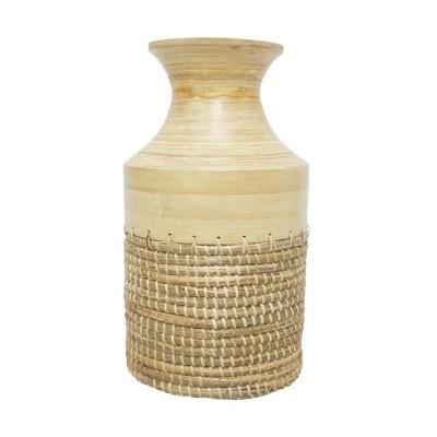 Bali Bamboo & Seagrass Vase - Natural