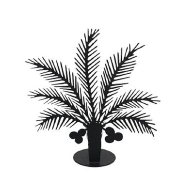 Balis Palm Candle Holder - Matt Black