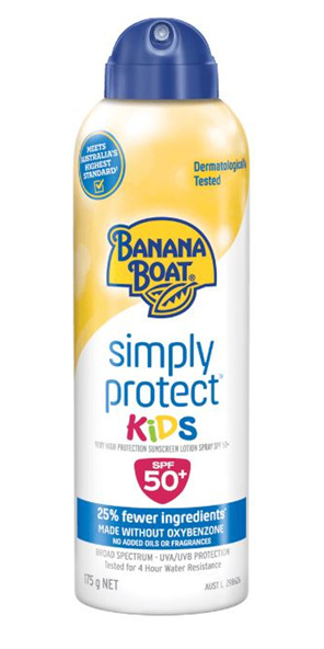 BANANA BOAT Simply Protect Kids Spray SPF50+ 175g