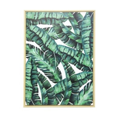 Banana Leaf Framed Canvas