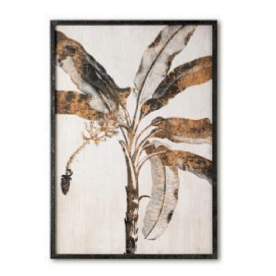 Banana Palm Print W Glass A -100x70cm