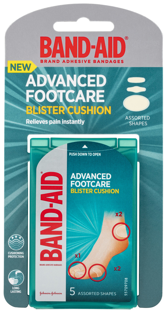 Band-Aid Advanced Footcare Blister Cushion Assorted Shapes 5 Pack