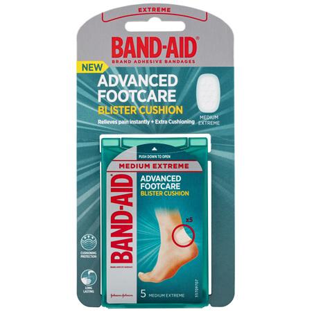 Band-Aid Advanced Footcare Blister Cushion Medium Extreme 5 Pack