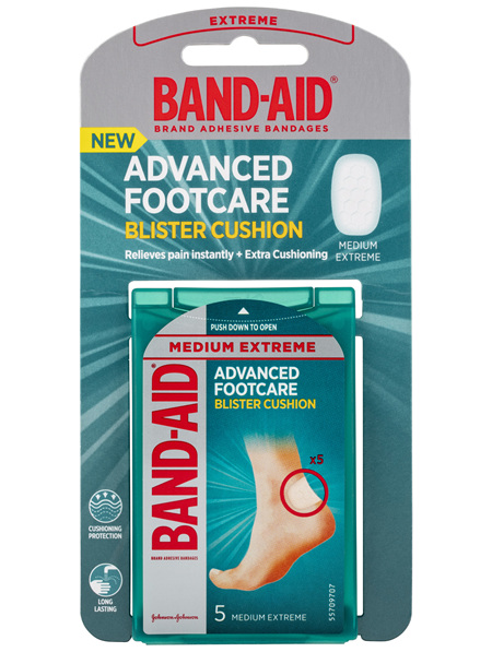Band-Aid Advanced Footcare Blister Cushion Medium Extreme 5 Pack