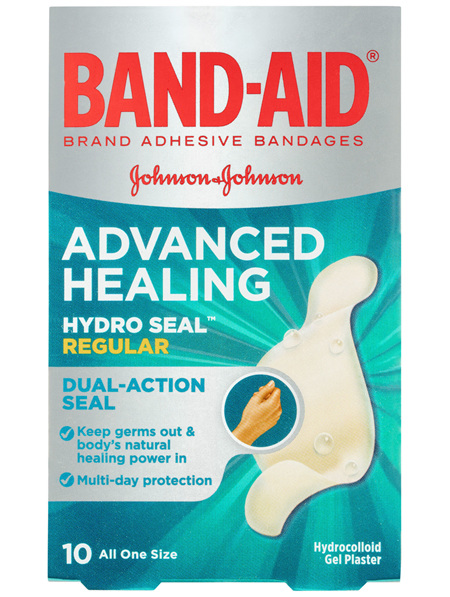Band-Aid Advanced Healing Hydro Seal Gel Plasters Regular 10 Pack