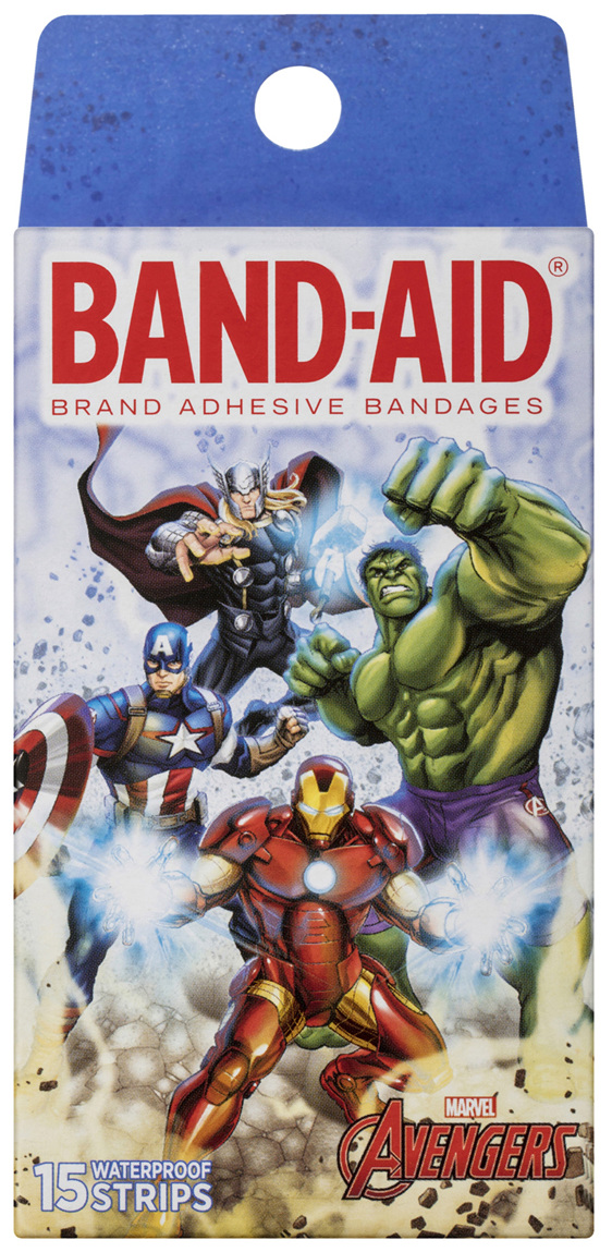 Band-Aid Avengers Waterproof Strips 15 Pack