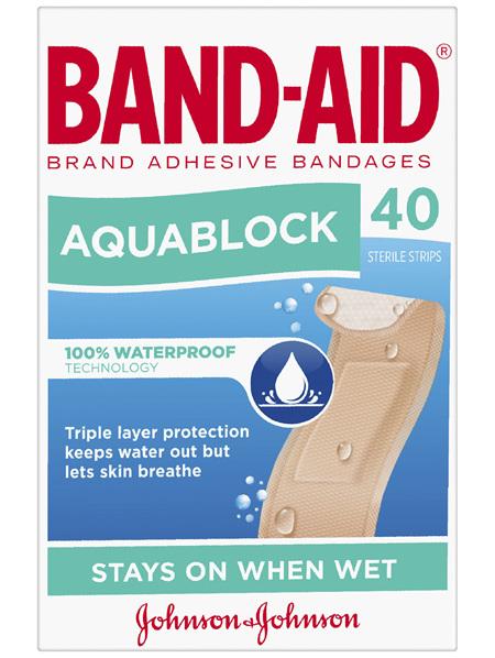 BAND-AID® BRAND ADHESIVE BANDAGES AQUABLOCK