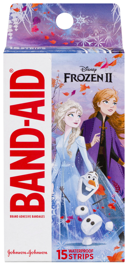 Band-Aid Brand Adhesive Bandages Disney Frozen 15 Pack