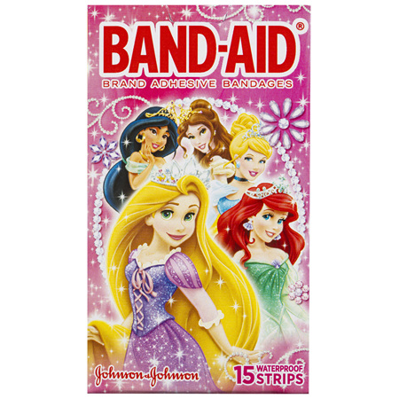 Band-Aid Brand Adhesive Bandages Disney Princess 15 Pack