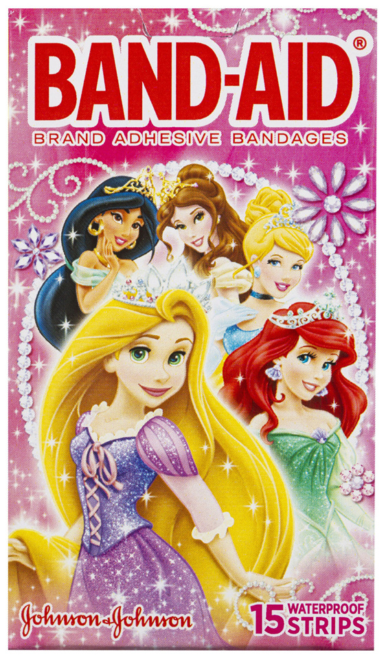 Band-Aid Brand Adhesive Bandages Disney Princess 15 Pack