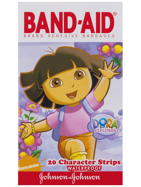 Band-Aid Brand Dora The Explorer Character Strips Waterproof 20
