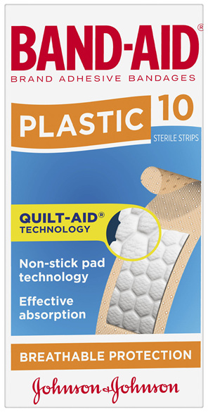 Band-Aid Brand Plastic Strips 10 Pack