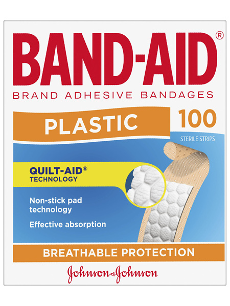 Band-Aid Brand Plastic Strips 100 Pack