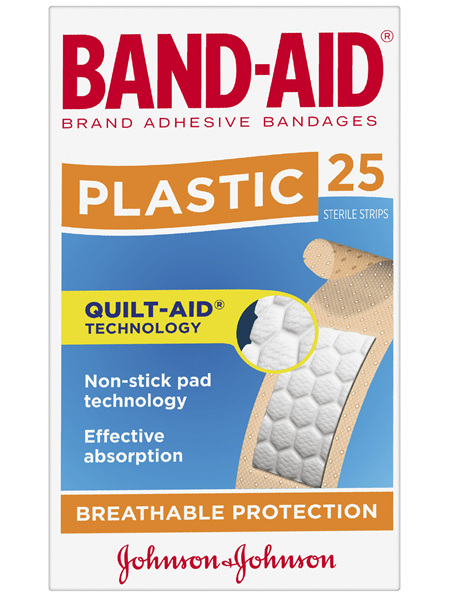 Band-Aid Brand Plastic Strips 25 Pack