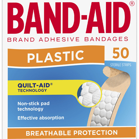 Band-Aid Brand Plastic Strips 50 Pack