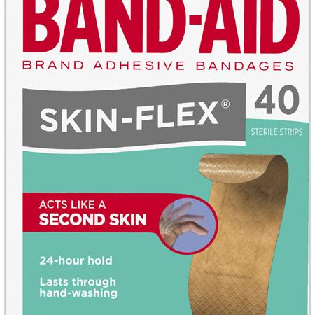 Band-Aid Brand Skin-Flex Strips 40 Pack