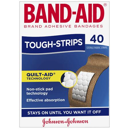 Band-Aid Brand Tough Strips 40 Pack