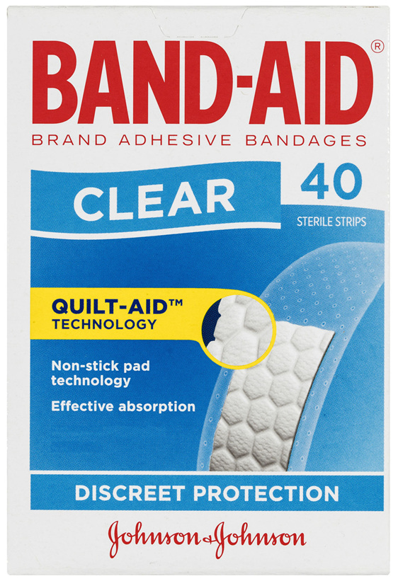 Band-Aid Clear Strips 40 Pack