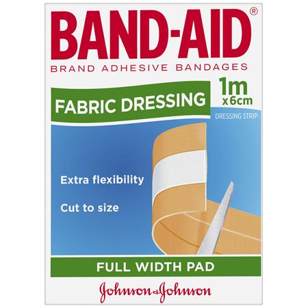 Band-Aid Fabric Dressing Full Width Pad 1m x 6cm
