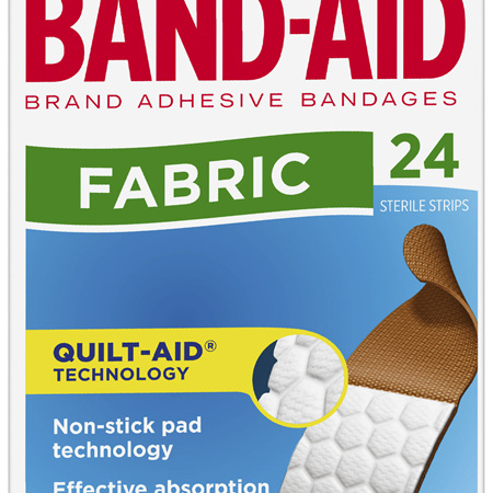 Band-Aid Fabric Full Width Pad 24 Pack