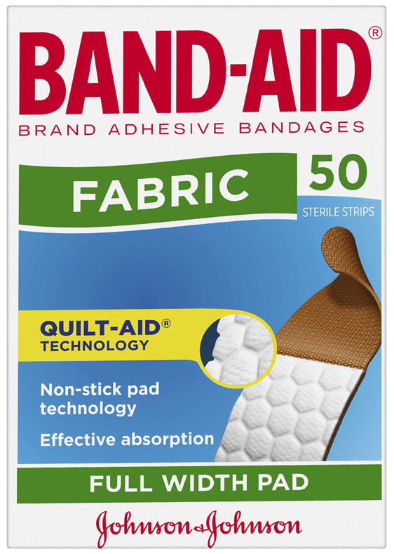 Band-Aid Fabric Strips 50 Pack