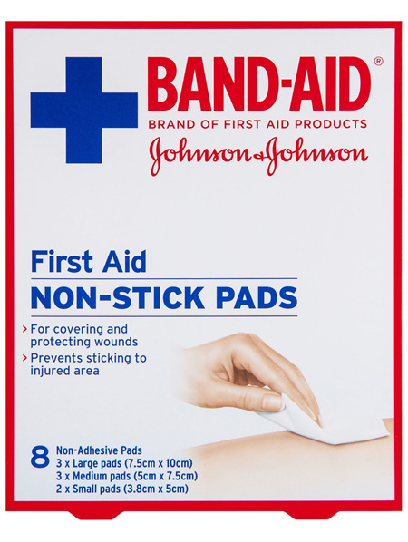 BAND-AID® First Aid NON-STICK PADS