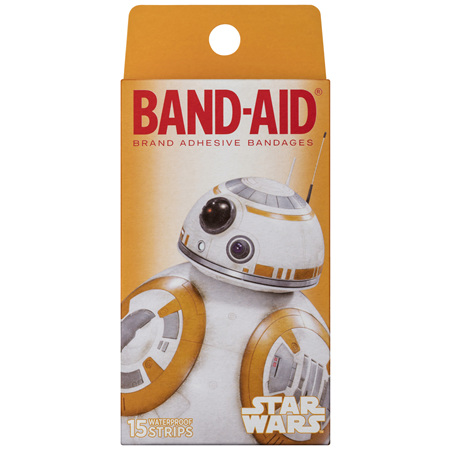 Band-Aid Star Wars Waterproof Strips 15 Pack