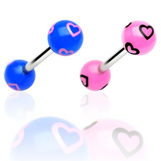 Barbell with Printed Multi Heart