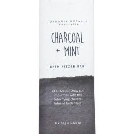 Bath Bomb Fizzy Bar - Charcoal & Mint - 4x50g