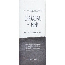 Bath Bomb Fizzy Bar - Charcoal & Mint - 4x50g