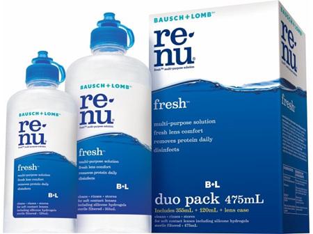 Bausch + Lomb Renu Fresh Multi Purpose Solution Duo  355ml + 120ml