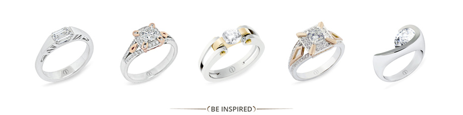 Be Inspired: Designer diamond engagement and right hand rings