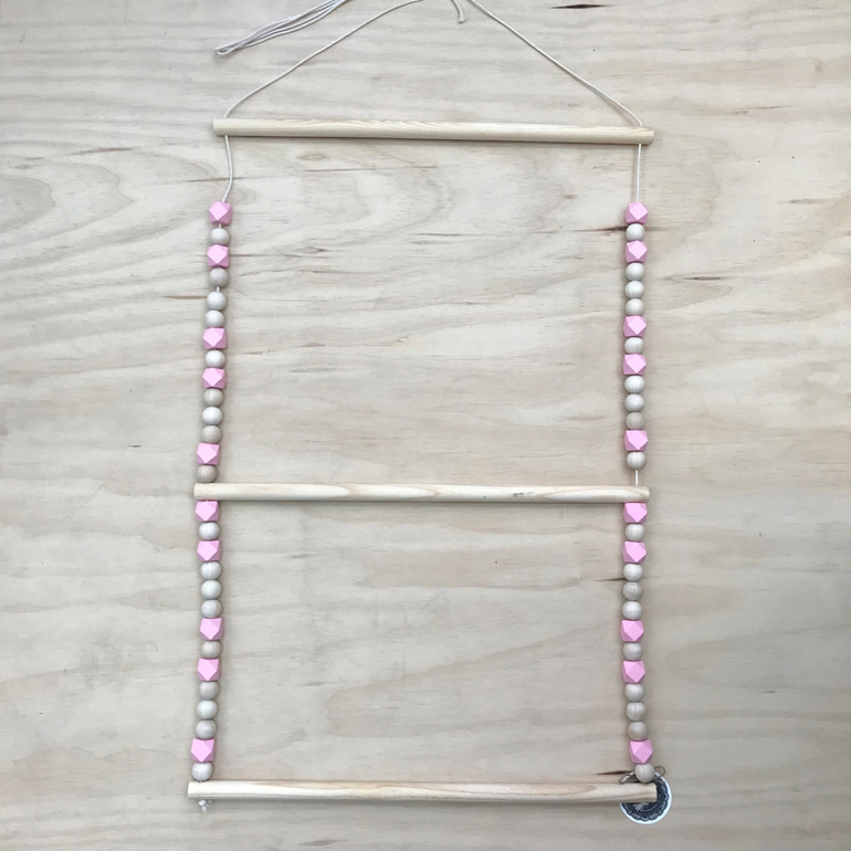 Beaded 3 Bar Hanger - Pink