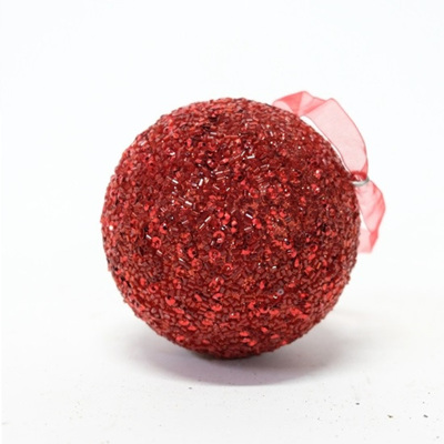 Beaded Bauble Red - Large