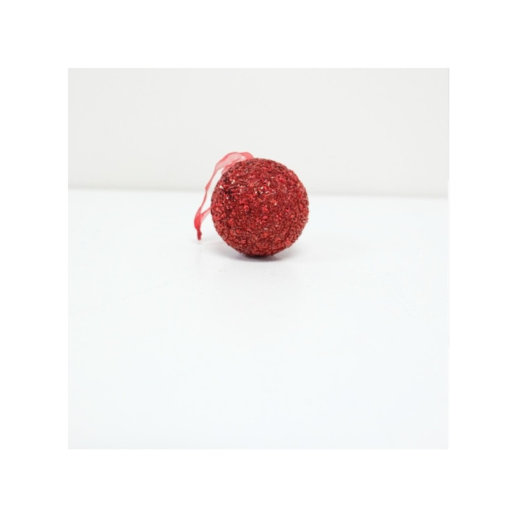 Beaded Bauble Red - Small