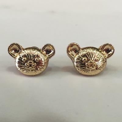 Bear Studs - Gold