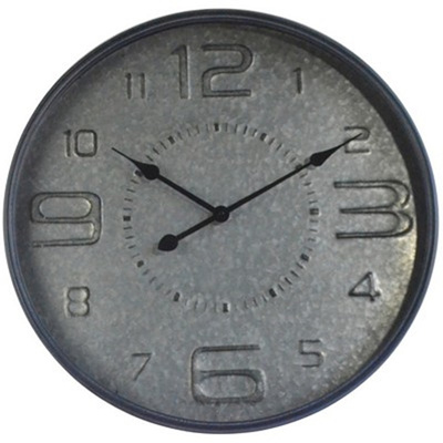 Beaten Metal Clock
