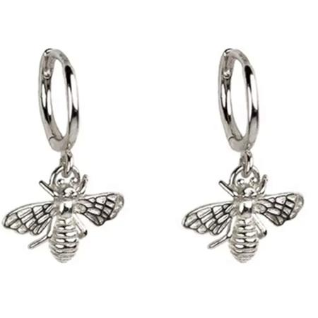 Bee Earrings Silver