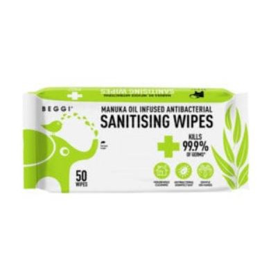 Beggi Manuka Infused A/Bacterial Wipes 50s