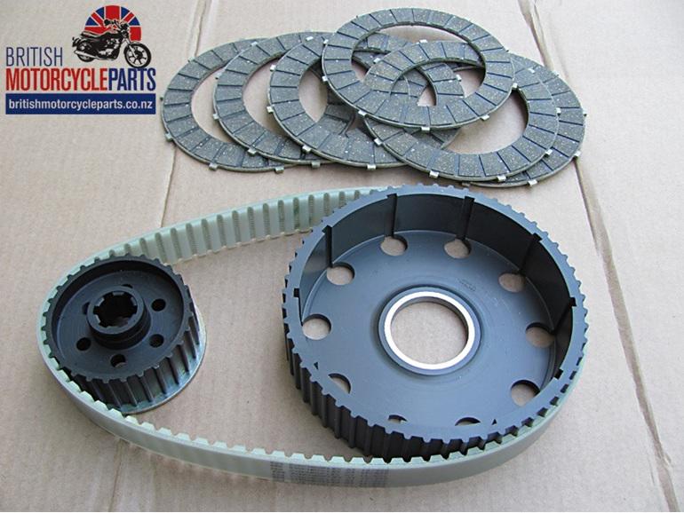 BELT02A Triumph T120 TR6 6T Alloy Belt Drive Kit - British Motorcycle Parts NZ