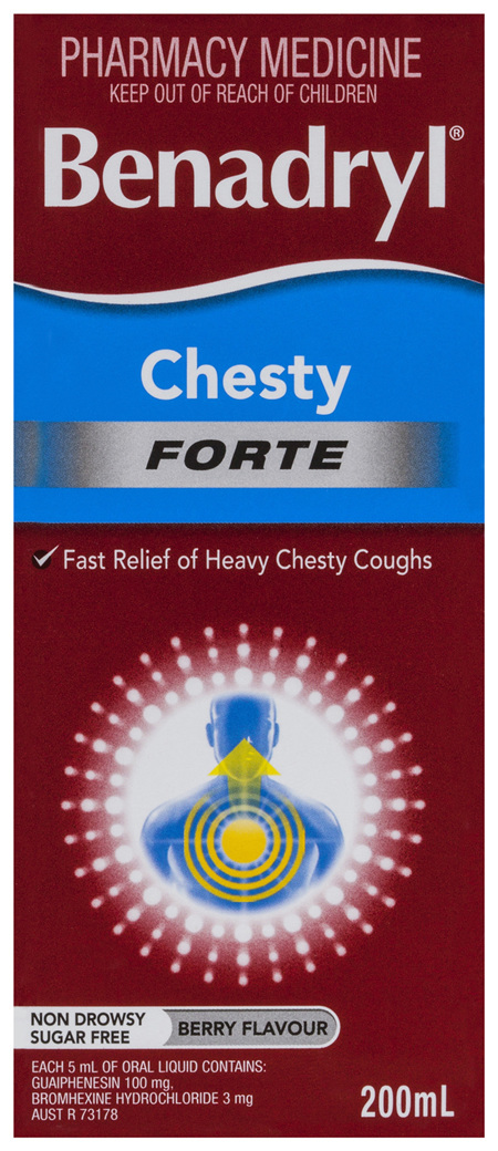 Benadryl Chesty Forte Cough Liquid 200mL